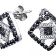 Earrings with zircon — Stock Photo