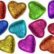 Valentines day colorful hearts — Stock Photo #1385041