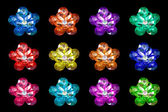 Gemstone on shape of flowers — Stock Photo