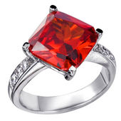 Rings with red zircon — Stock Photo