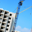 Building crane and building house — Stock Photo #1390118