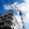 Royalty-Free Stock Photo: Building crane and building house