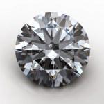 3d Round gems cut diamond — Stock Photo