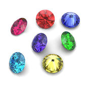 3d Round gems — Stock Photo