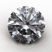 3d Round gems cut diamond — Stock Photo