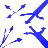 Blue arrows — Photo