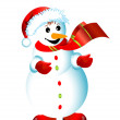 Christmas happy snowman isolated — Stock Photo
