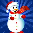 Happy snowman — Foto Stock