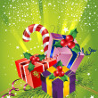 Christmas gift boxes — Stockfoto