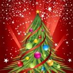 Christmas tree and colorful ball — Stock Photo