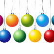 set of colorful vector christmas balls — Stock Photo