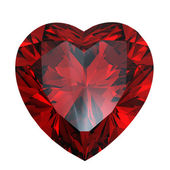 Red heart shaped garnet — Stock Photo