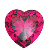 Red heart shaped ruby — Stock Photo
