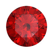 Red round shaped garnet — Stock Photo