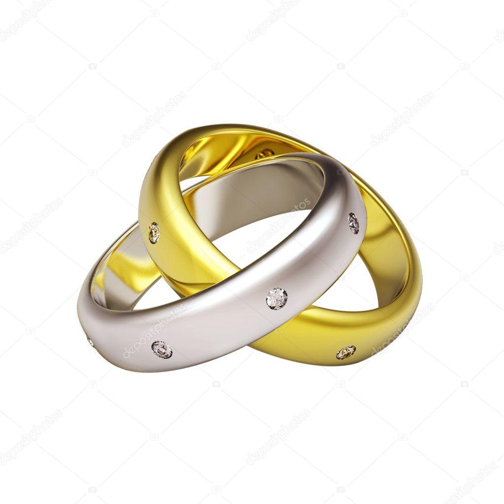 Обручальные кольца 3д фото 2