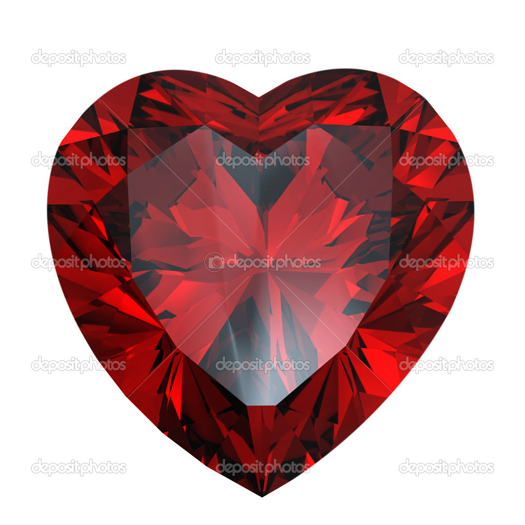 Red Heart Shaped Garnet Stock Photo 169 Rozaliya 1579698