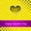 Card of Happy Valentines day — Stock Photo #1605599