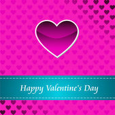 Karte von happy valentines day — Stockfoto