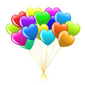 Cartoon heart balloons — Stock Photo