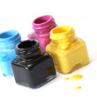 CMYK paint buckets — Stock Photo