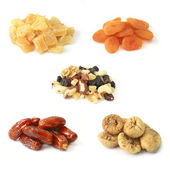 Dried fruits with nuts — Stock Photo