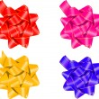 Royalty-Free Stock Imagen vectorial: Set of gift bows