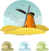 Windmill — Stock Vector