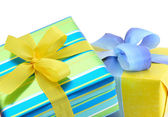 Colourful gift boxes — Stock Photo