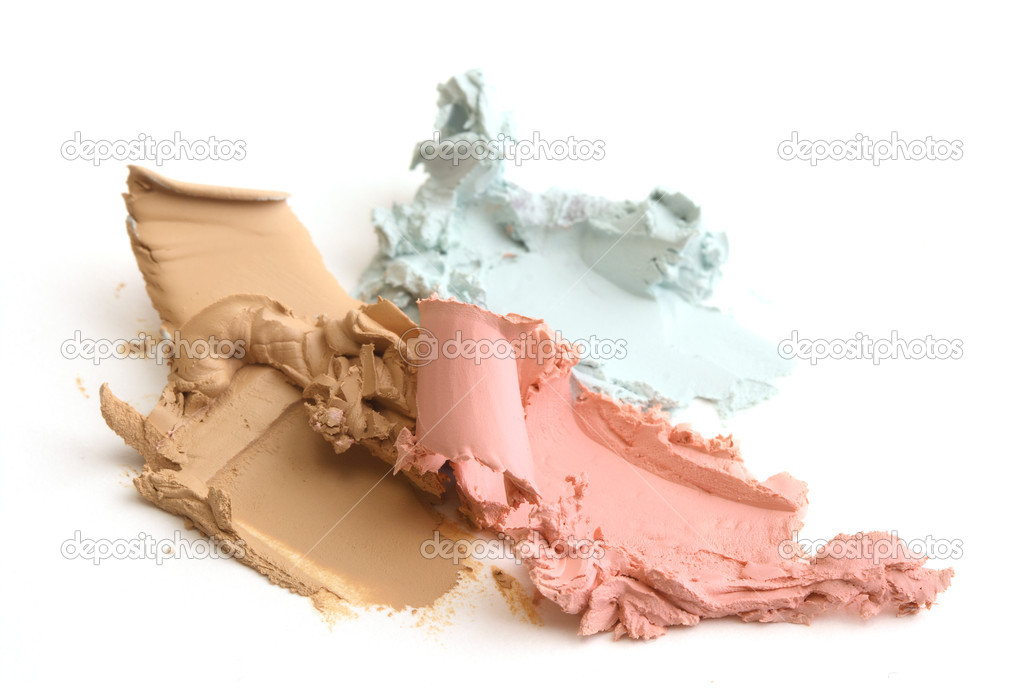 Close up of crushed cosmetic — Stock Photo #2630326