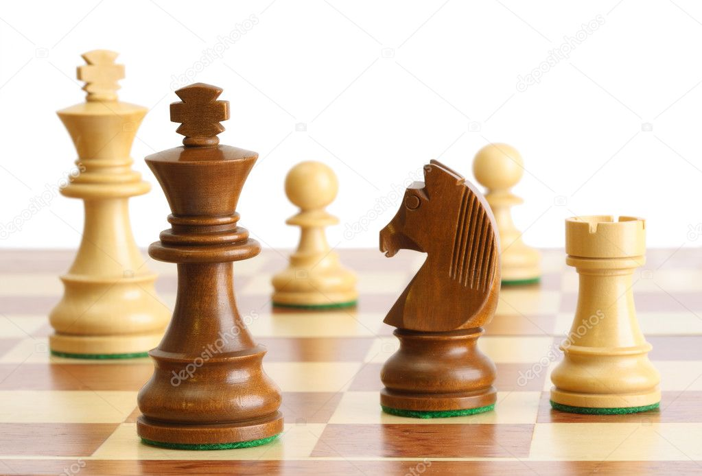 Chess on white background — Stock Photo #2630554
