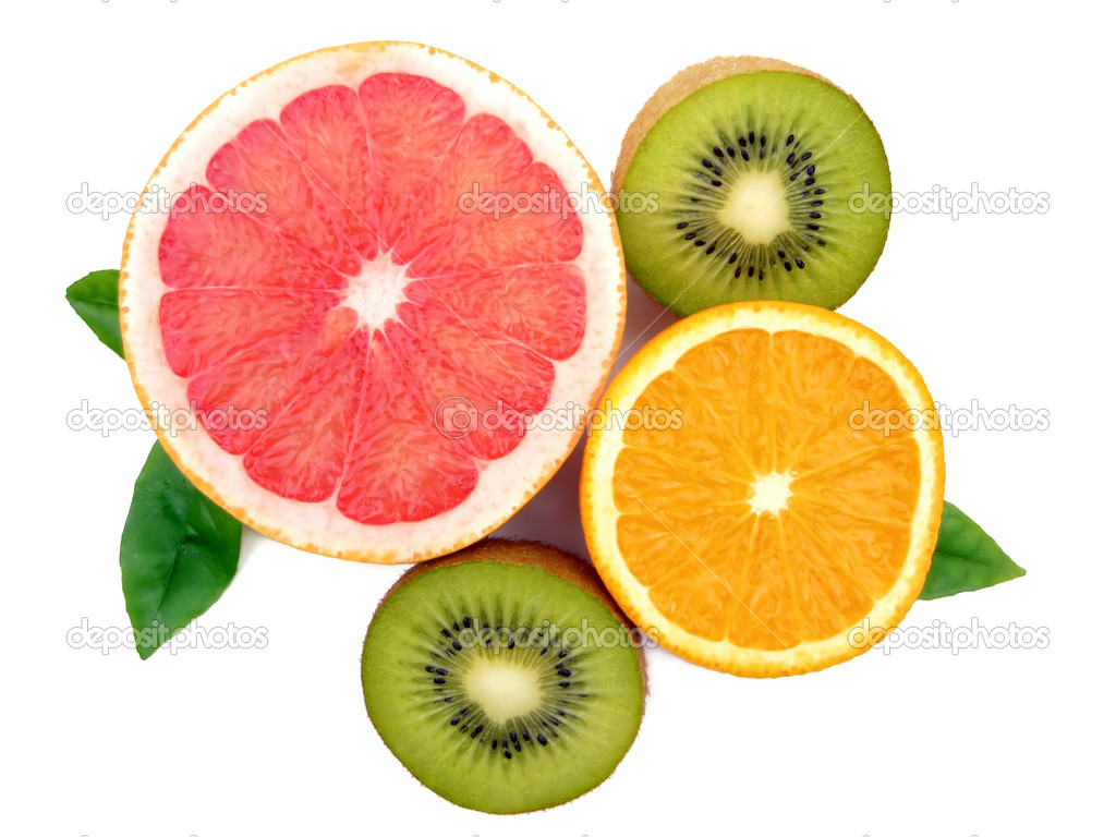 Set of different fresh fruits. Colorful background.  — Stock Photo #1209106