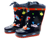 Blue Galoshes — Stock Photo