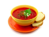 Red borsch — Stock Photo