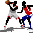 Royalty-Free Stock Vector Image: Basketball players. Vector illustration