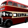London double Decker  red bus. Vector il - Stock Vector