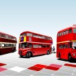 Stock Vector: London double Decker red bus. Vector il