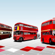 London double Decker red bus. Vector il — Stock Vector #1101284