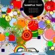 Abstract background with cabriolet image — 图库矢量图片