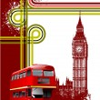 Cover for brochure with London images. V — Stockvektor