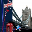 Cover for brochure with London images. V — Stock Vector