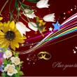 Royalty-Free Stock 矢量图片: Wedding  Greeting Card. Vector illustrat