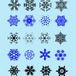 Royalty-Free Stock Векторное изображение: Set of snowflakes as winter design eleme