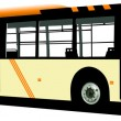 Stock Vector: Yellow city bus. Coach. Vector illustrat