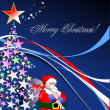 Royalty-Free Stock Vektorfiler: Christmas - New Year background with San