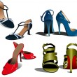 Royalty-Free Stock Immagine Vettoriale: Fashion woman shoes. Vector illustration