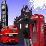 London Bilder Hintergrund. Vektor-Illustration — Stockvektor