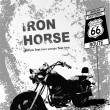 Grunge gray background with motorcycle i — 图库矢量图片