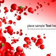Red futuristic abstract background - Stock Vector