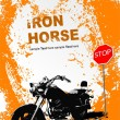 Orange gray background with motorcycle i - Imagens vectoriais em stock