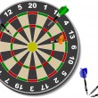 Royalty-Free Stock Vector Image: Darts. Office game. Vector illustration